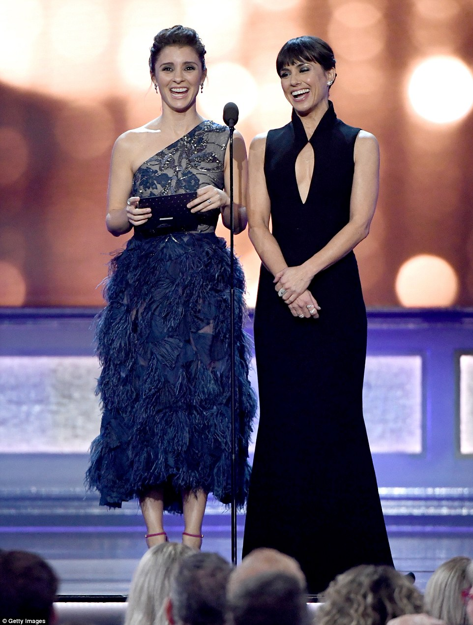 Stunners: Shiri Appleby and Constance Zimmer had fun as they presented