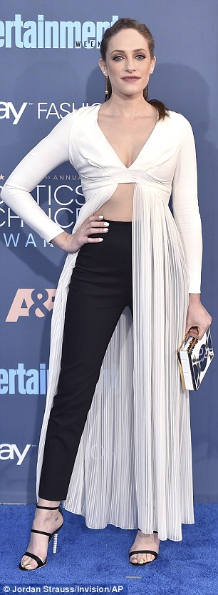 Did not compute: Mr. Robot's Carly Chaikin wore trousers also but it was not her high waisted black pants that ensures a style slip, it was her dress come top