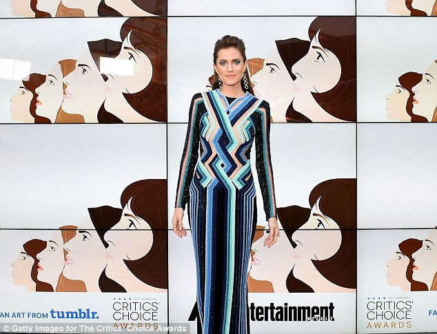 Missed the mark: Pants and jackets were not to blame for Allison Williams fashion faux pas - pattern was