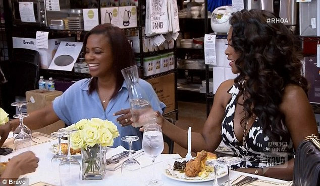Food sample: Kandi invited the women over to sample food from the upcoming restaurant