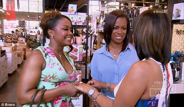 On a mission: Mama Joyce went right for Phaedra when she arrived, but Kandi kept her at bay