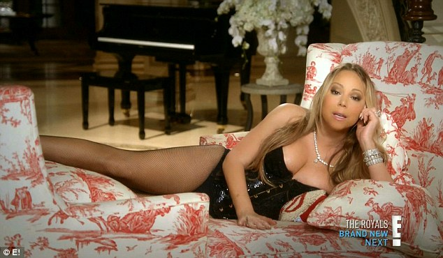 Pop diva: The pop diva reclined in lingerie while talking to the camera