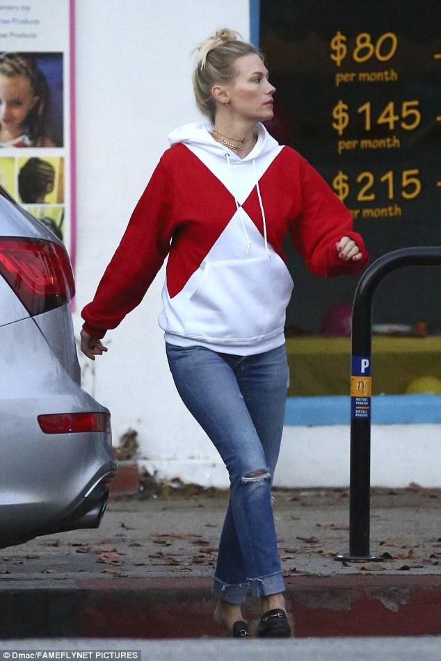 Celebrity: January Jones, 38, radiated star power as she ran chores in Studio City, California on Sunday