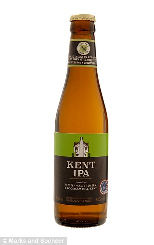 Top tipple: Enjoy Châteauneuf-du-Pape Les Closiers 2014, at £20, and Gluten Free Kent IPA at £2