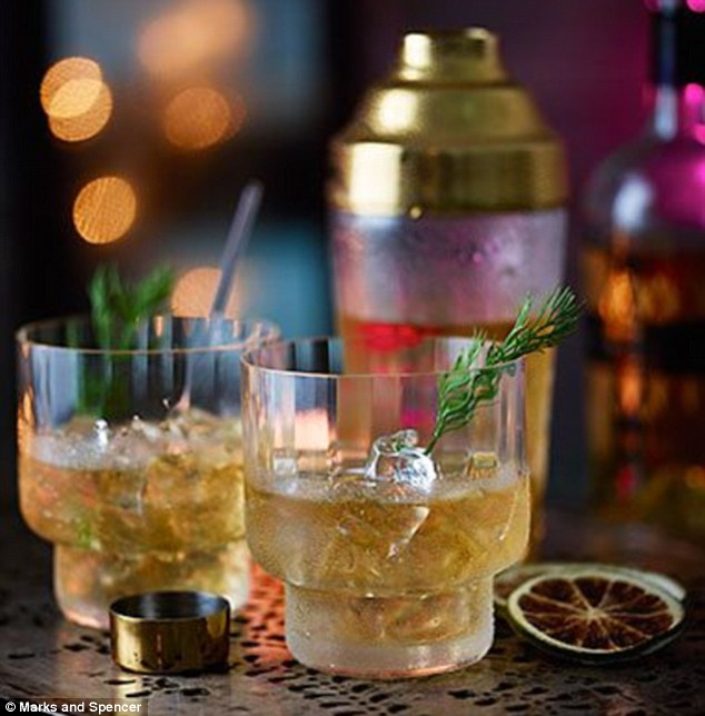 Kick back with a cocktail: Enjoy the M&S No Big Dill Cocktail with fish