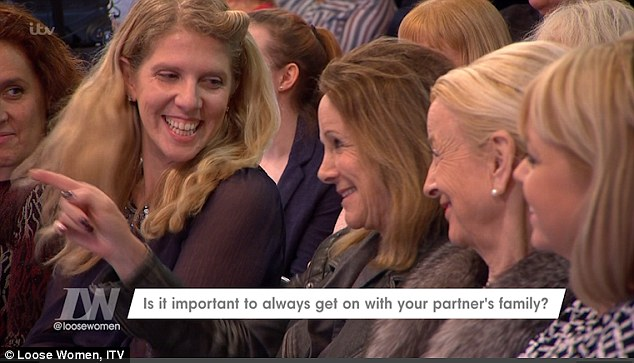 Family fun: Ayda's youthful mother was sat in the audience on the day (centre)