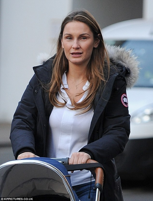 All natural:Sam Faiers is seldom seen without her sweet baby Paul Tony as illustrated when she stepped out her son and boyfriend Paul Knightley in London on Wednesday