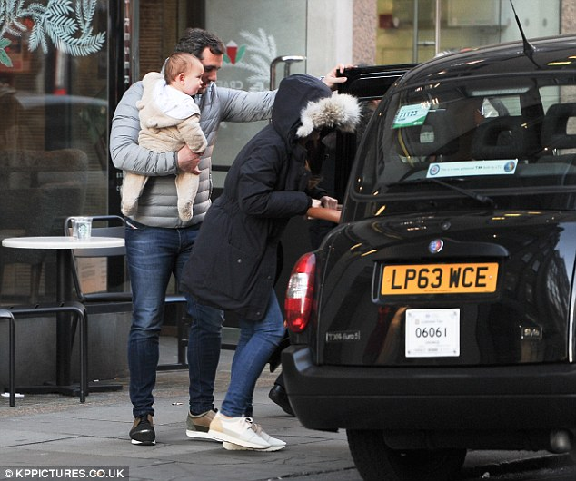Heading out:Having departed their native county to zip around the capital, the trio abandoned their cars at home and instead opted for a black cab as their transport method
