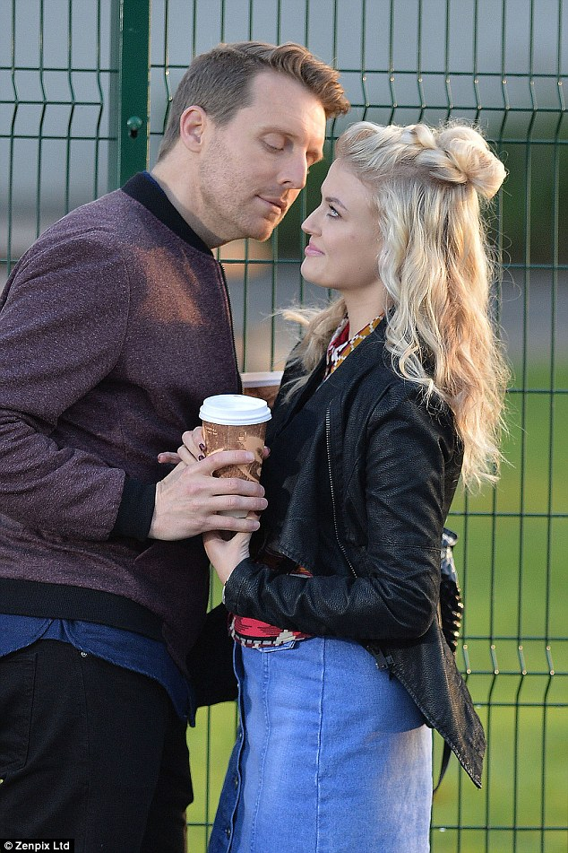 Not so sad anymore:Shooting on-location in Manchester on Wednesday, Lucy Fallon (Bethany)and her co-star Christopher Harper (Nathan) were seen filming tense scenes at a school which started out looking strained although they later locked lips