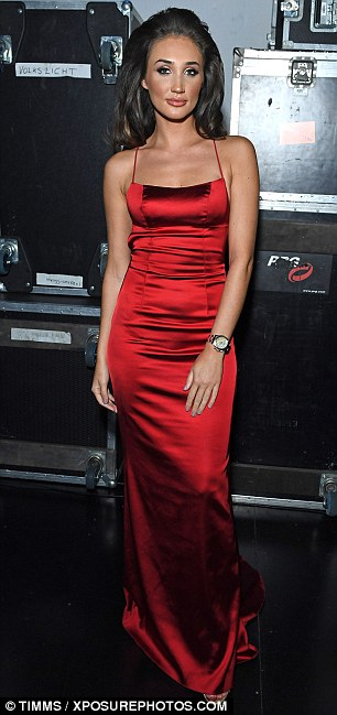 Superstar: Singing her heart out at the Adelphi Theatre, the 24-year-old dazzled in a slinky red number before changing into an angelic white gown as she wowed with her powerful voice