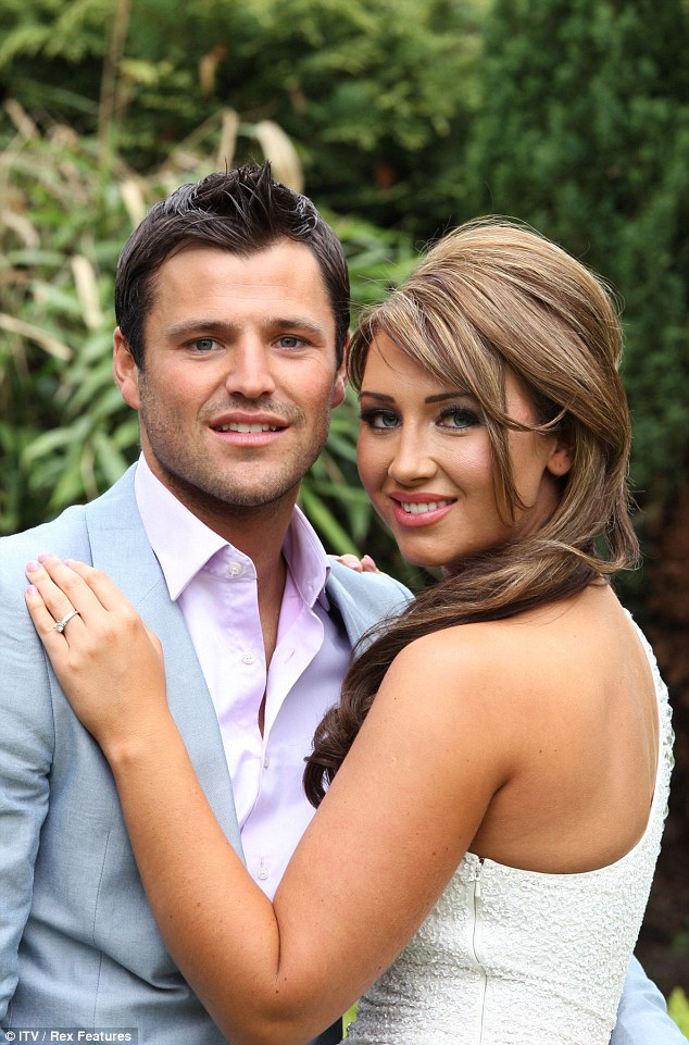 All over now: Prior to her relationship with Jake, Lauren was engaged to co-star Mark Wright, following a rocky ten year relationship - he's now married to Michelle Keegan