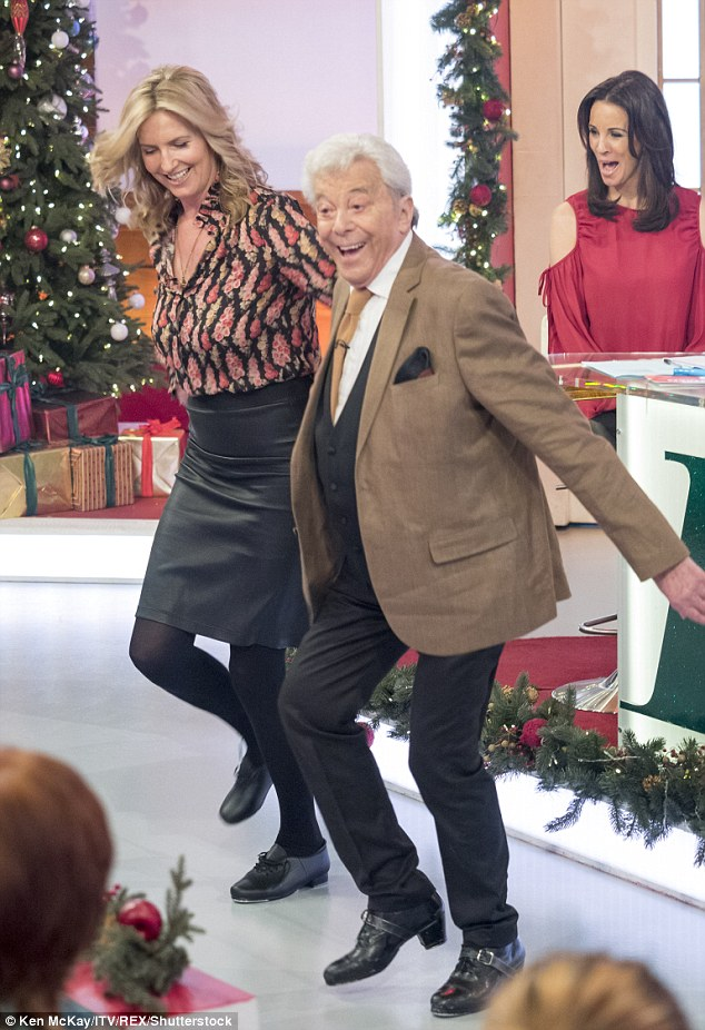 To the beat: While on the show, Lionel enjoyed a spectacular dance session with Penny Lancaster