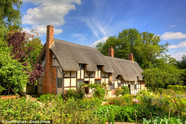 Anne Hathaway's cottage is a 12-bedroom farmhouse located in Stratford-upon-Avon where she lived as a child