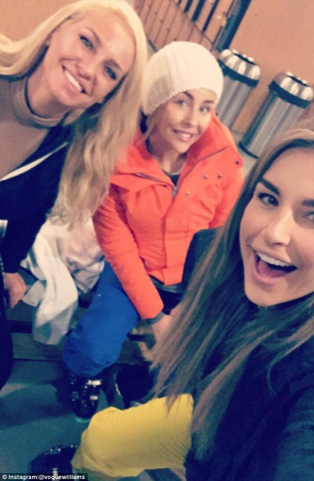 Gal pals: Meanwhile, Irish beauty Vogue revealed she was already feeling a close bond with her 'girlies' Lydia and Josie