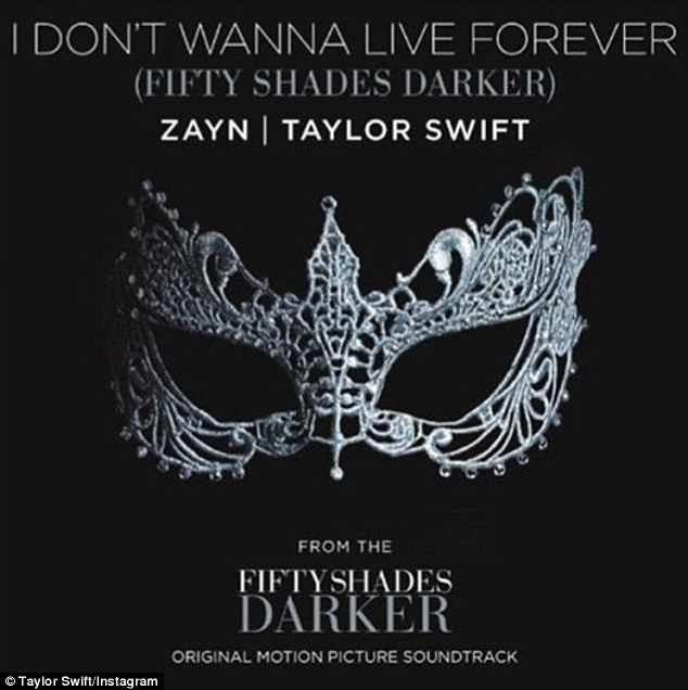 'Z | T | 50': The song will feature on the soundtrack for the upcoming film Fifty Shades Darker with a promo shot for the film uploaded by Taylor Swift