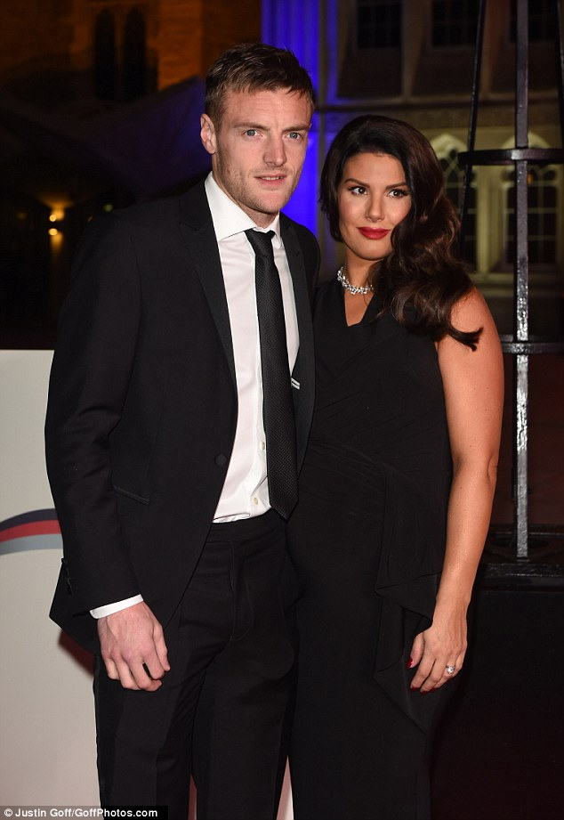 Good looking couple!pregnant Rebekah Vardy is taking to pregnancy in fine form as illustrated when she arrived at the Military Awards alongside her partner at London's Guildhall on Wednesday evening