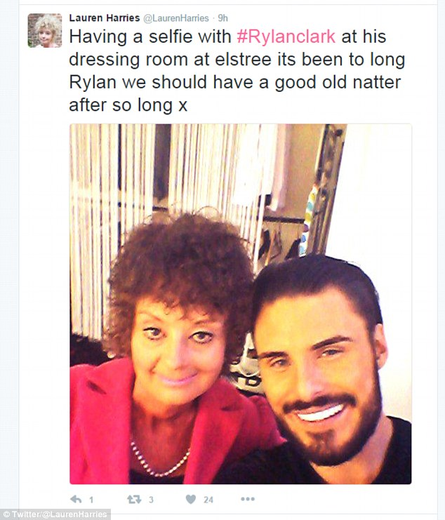 Good to be back: Lauren previously hinted she'll be returning to the famous reality show by tweeting a picture of herself with Big Brother's Bit On The Side host Rylan Clark-Neal in his Elstree dressing room