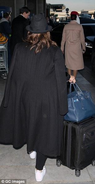 Always a stunner: She left her brunette locks loose