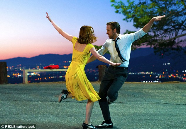 It's a hit:La La Land harks back to Tinseltown's golden era of big musicals. The story focuses on an actress and jazz musician who fall in love while struggling to make it