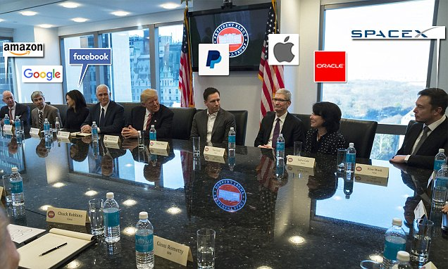 Trump and Silicon Valley elite seek to smooth over frictions