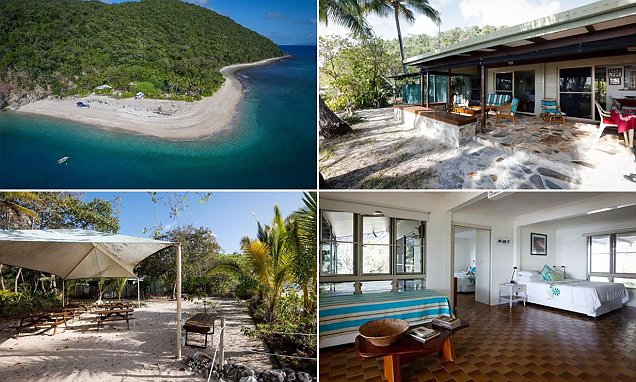 Couple selling their secluded Great Barrier Reef island