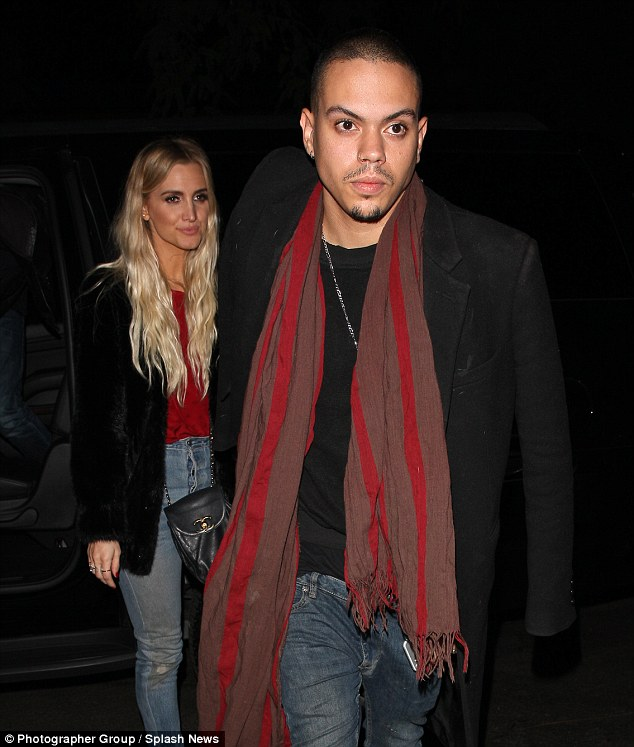 Date night! Ashlee Simpson and Husband Evan Ross enjoyed dinner at LA hot spot Delilah on Tuesday night