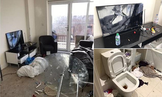 £100-a-night luxury apartment was trashed by hundreds of rampaging teenagers after being