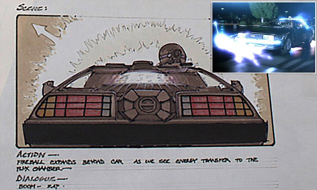 Back to the Future's original storyboards show film set to end with nuclear bomb blast