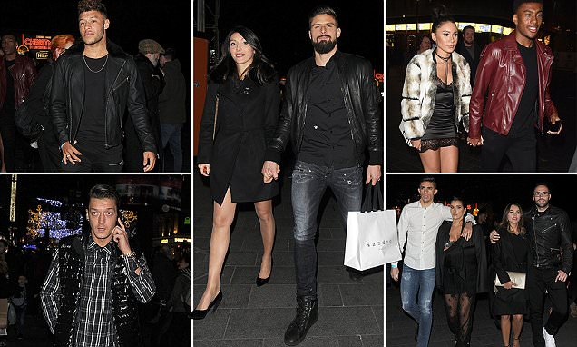 Arsenal stars enjoy night out watching La Soiree as they try to banish the memories of