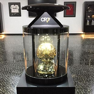 Cristiano Ronaldo proudly unveils latest Ballon d'Or award at his museum