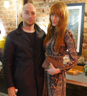 Party time: Florence Welch glams up at the Kodakery in Soho to celebrate photographer Tom Beard's exhibition