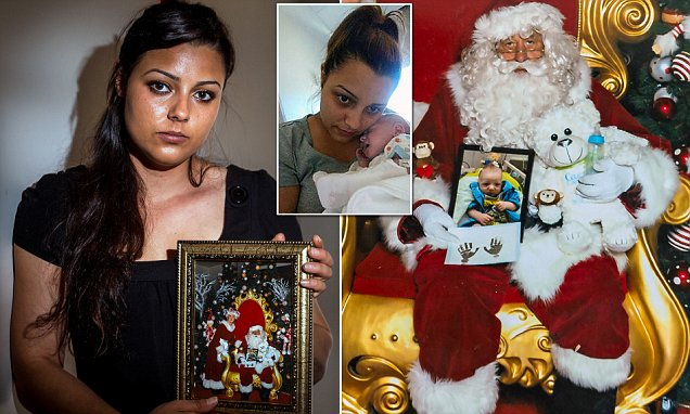 Grieving mother takes picture of her baby son who died to meet Santa