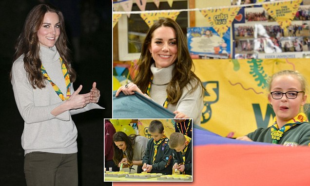 Kate Middleton attends a Cub Scout Pack meeting in Norfolk