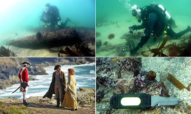 Divers rediscover the Schiedam in the same spot as the wreck from TV drama Poldark