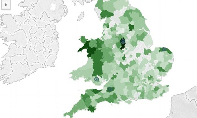 Bank closures map of the UK as more than 1,000 branches have closed in two years