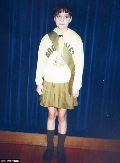 Kate is pictured in September 1990 at St Peter's Church Hall