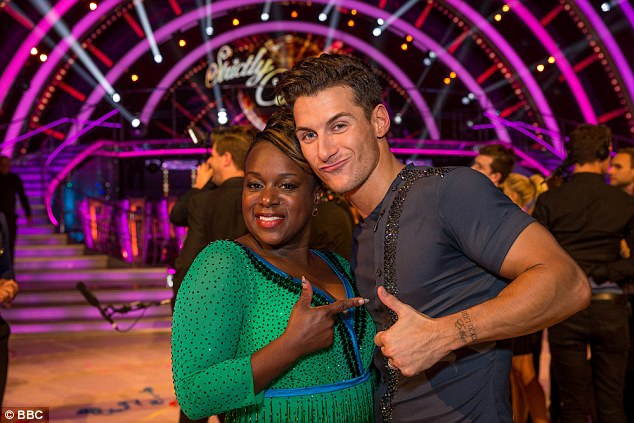 Gorka with dancing partnerTameka Empson during filming for this year's series of the show