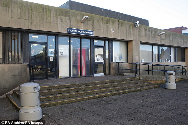 The singer was caught at twice the drink-driving limit and banned from driving for 20 months, Blackpool Magistrates' Court (pictured) ruled