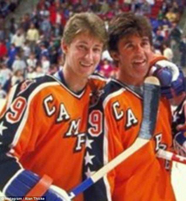 Tragedy:Alan (above with Wayne Gretzky) passed away soon after he arrived at Providence St. Joseph Medical Center