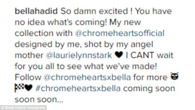 Big news: She revealed that she will be designing a collection for the brand, which will be available soon