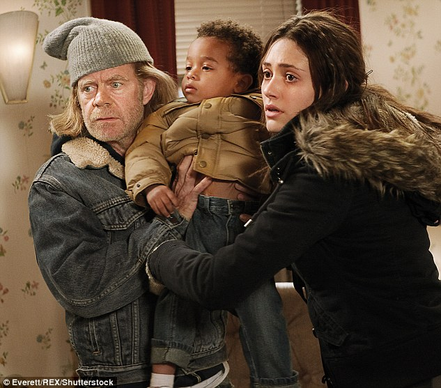 Dispute: The 30-year-old had been holding out for more money than her co-star William H Macy, due to the fact she has more screen time than him
