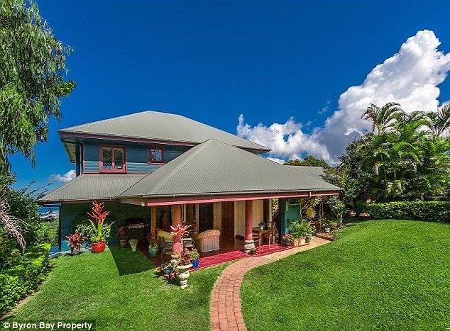 Luxury: The $4.5 million property is set over 12,000 square feet surrounded by lush untouched rainforest