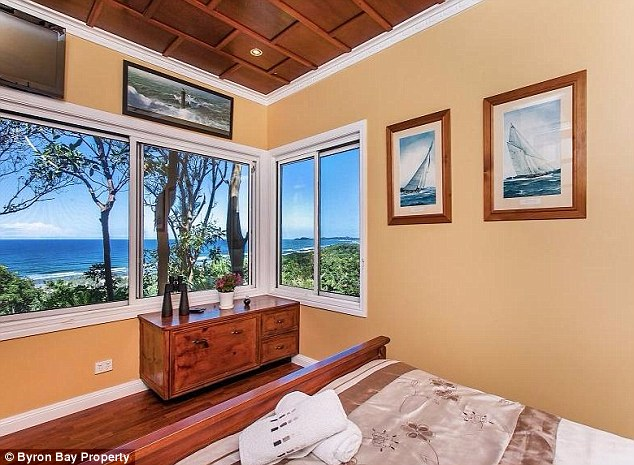 By the sea: The home contains four spacious bedrooms and three bathrooms, all with spectacular views of the surrounding natural beauty