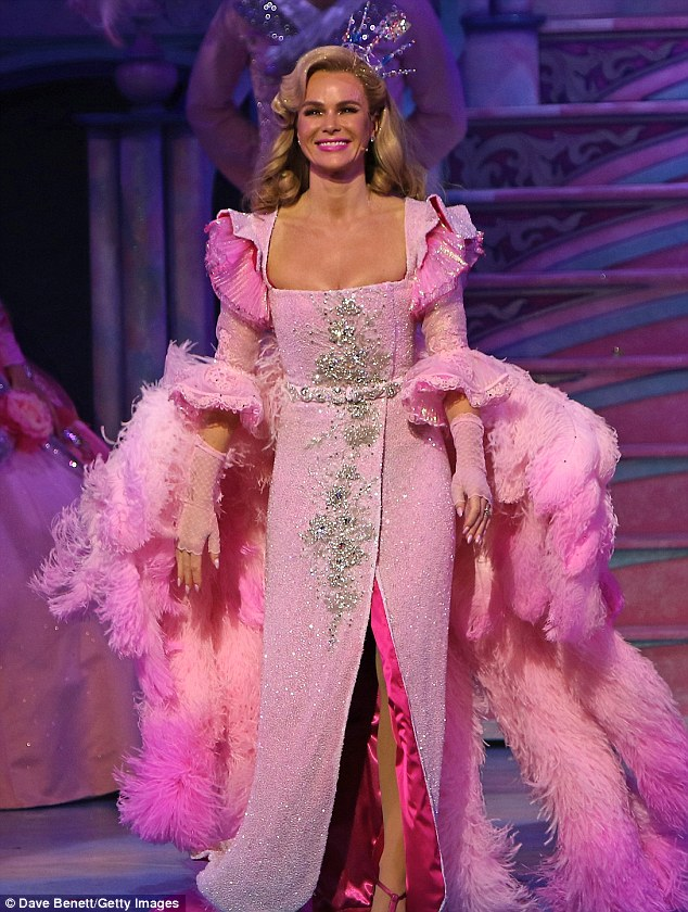 Familiar show: She stars as the Fairy Godmother in the beloved pantomime - having taken on the role of Cinderella twenty years ago in one of her first acting jobs