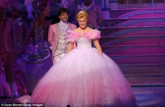 On the stage:Lee Mead and Natasha J Barnes took part in what is being called a Christmas musical