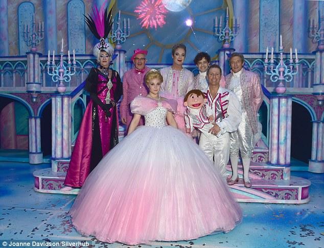 Star studded: The opening night sawJulian Clary, Lee Mead, Natasha J Barnes and Paul O'Gradytake the stage