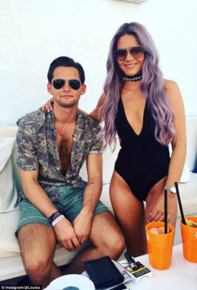 Loved up: Louisa described living with her boyfriend as 'amazing'