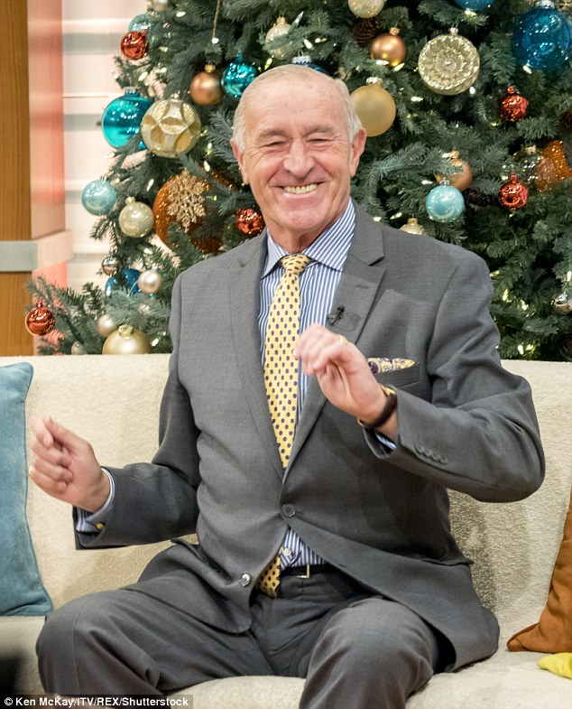 Jazz hands: Len showed off some of his own moves along the way