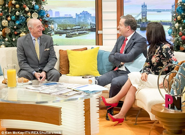 A fan: He also told Piers and Susanna that he was surprised at how well he had bonded with Darcey Busell on Strictly
