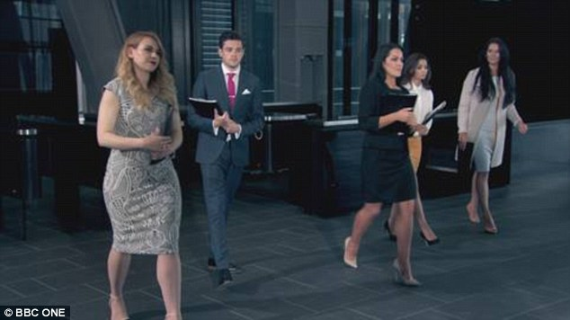 Heading to their fate: The Final Five candidates are set to face the dreaded interview stage on Thursday night's episode of The Apprentice, with typically scandalous results